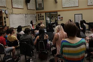 Returning to my dear high school to give a talk about life as a musician to the current students at the Langley Fine Arts School in British Columbia